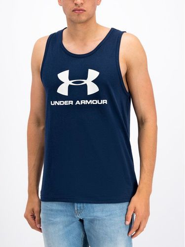 Under Armour Tank top UA Sportstyle Logo 1329589 Granatowy Loose Fit