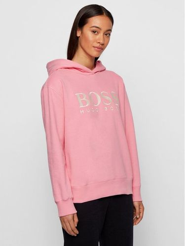 Boss Bluza C_Edelight_Active 50457385 Różowy Relaxed Fit