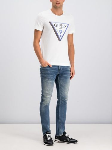 Guess T-Shirt M94I64 K7NY0 Biały Slim Fit