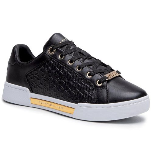 Sneakersy TOMMY HILFIGER - Th Monogram Elevated Sneaker FW0FW05549 Black BDS