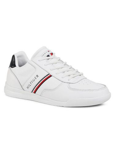 Tommy Hilfiger Sneakersy Lightweight Leather Mix Sneaker FM0FM02988 Biały
