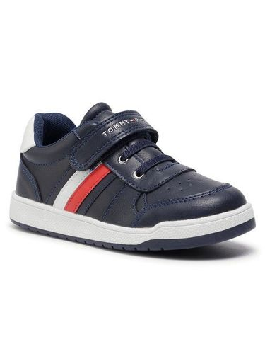 Tommy Hilfiger Sneakersy Low Cut Lace-Up T1B4 30908 0621X007 S Granatowy