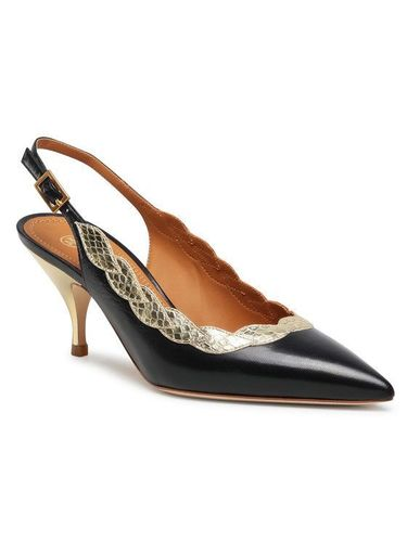 Tory Burch Sneakersy Applique Slingback 70Mm Pump 76940 Czarny