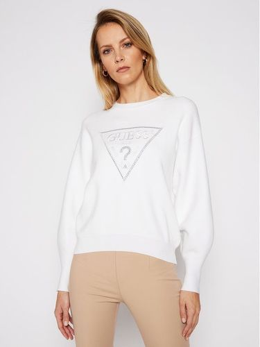Guess Sweter Lily W1RR0H Z26I0 Biały Relaxed Fit