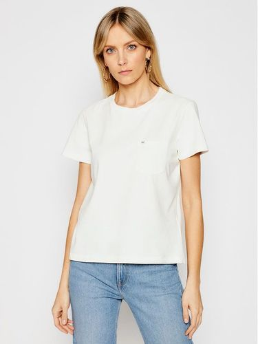 Lee T-Shirt Pocket L40RETQB Beżowy Relaxed Fit