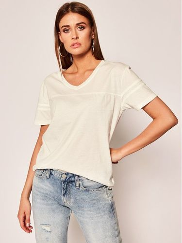 One Teaspoon T-Shirt White Sports Tee 23308 Biały Regular Fit
