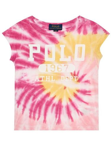 Polo Ralph Lauren T-Shirt Tie Dye Tee 311803031001 Różowy Regular Fit