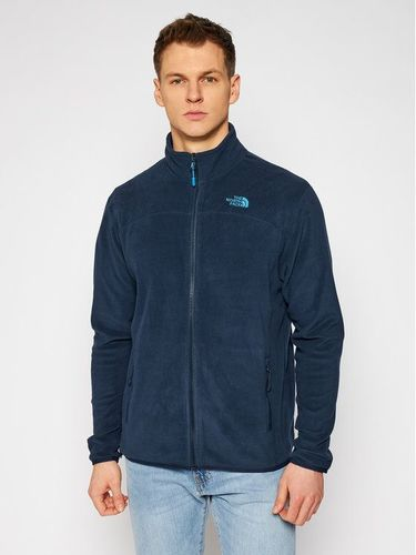 The North Face Polar 100 Glacier Full Zip NF0A2UAQH2G1 Granatowy Regular Fit