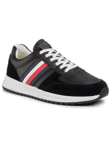 Tommy Hilfiger Sneakersy Modern Corporate Leather Runner FM0FM02662 Czarny