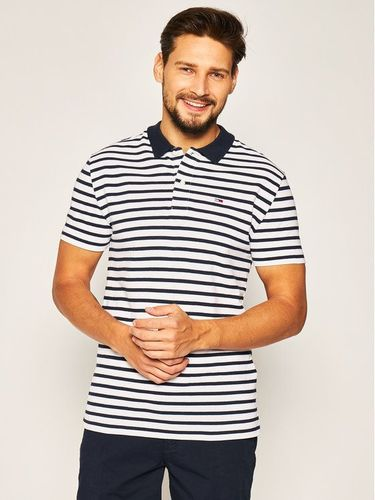 Tommy Jeans Polo Tommy Classics Stripe DM0DM07799 Granatowy Regular Fit