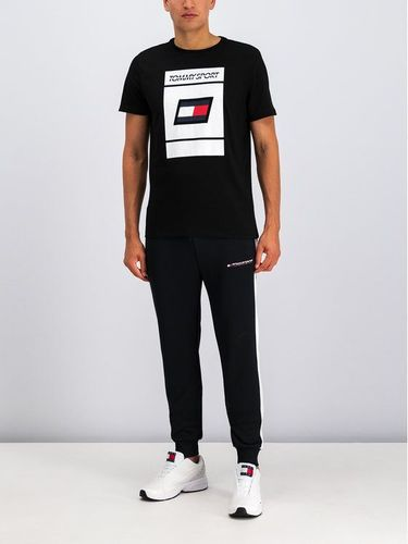 Tommy Sport T-Shirt Graphic S20S200193 Czarny Regular Fit