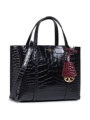 Tory Burch Torebka Perry Embossed Small Triple-Compartment Tote 74594 Czarny