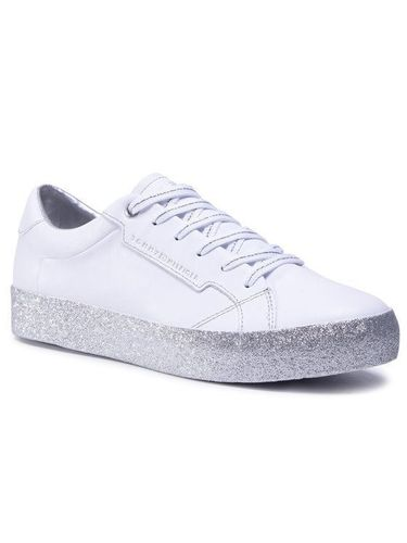 Tommy Hilfiger Sneakersy Glitter Foxing Dress Sneaker FW0FW04849 Biały