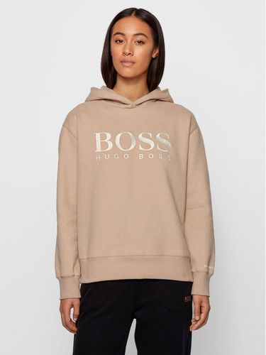 Boss Bluza C_Edelight_Active 50457385 Beżowy Relaxed Fit