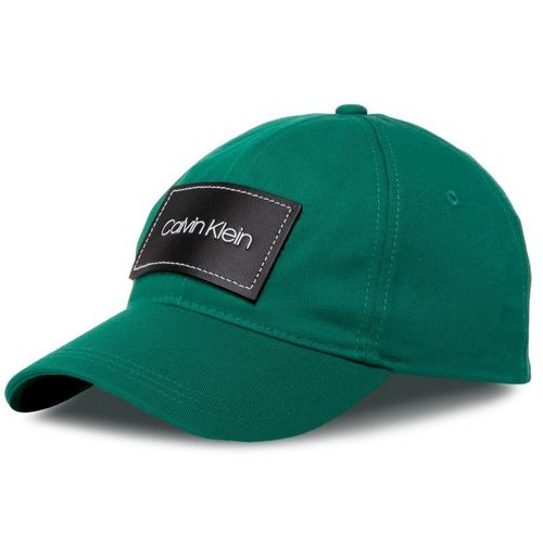 Czapka z daszkiem CALVIN KLEIN - Leather Patch Bb Cap K50K505490 LLY