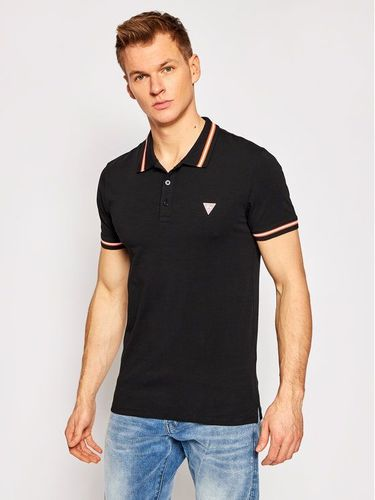 Guess Polo M1RP66 J1311 Czarny Extra Slim Fit