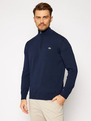 Lacoste Sweter AH1980 Granatowy Classic Fit