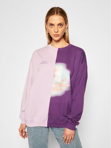 Local Heroes Bluza Flower Mixed Sweatshirt AW2021S0018 Fioletowy Regular Fit