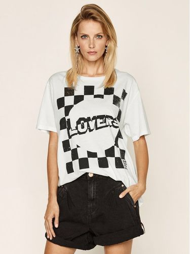 One Teaspoon T-Shirt Lovers Bf Tee 23534A Biały Relaxed Fit