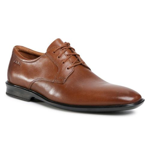 Półbuty CLARKS - Bensley Lace 261476887 Dark Tan Leather