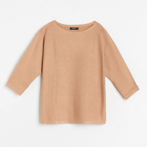 Reserved - Sweter basic - Beżowy