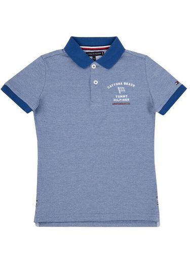 Tommy Hilfiger Polo Msw Light Weight Embroi Polo KB0KB05186 S Granatowy Regular Fit