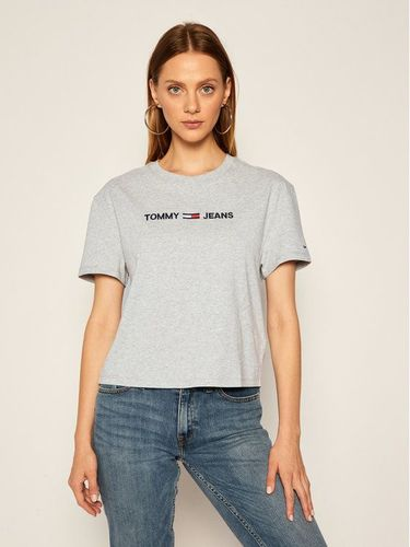 Tommy Jeans T-Shirt Tjw Modern Linear Logo DW0DW08615 Szary Relaxed Fit