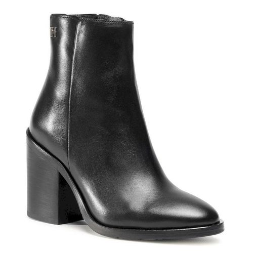 Botki TOMMY HILFIGER - Shaded Leather High Heel Boot FW0FW05164 Black BDS
