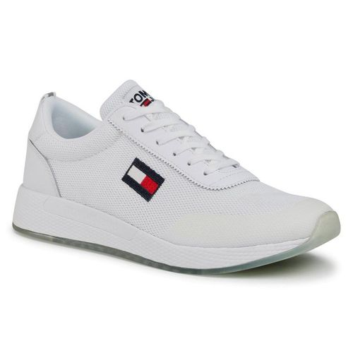 Sneakersy TOMMY JEANS - Flexi Runner EM0EM00490 White YBR