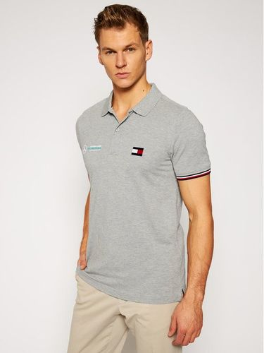 Tommy Hilfiger Tailored Polo MERCEDES-BENZ Logo TT0TT08493 Szary Regular Fit