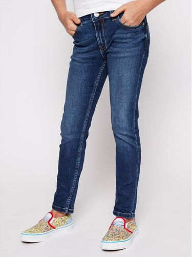 Calvin Klein Jeans Jeansy IG0IG00236 Granatowy Skinny Fit