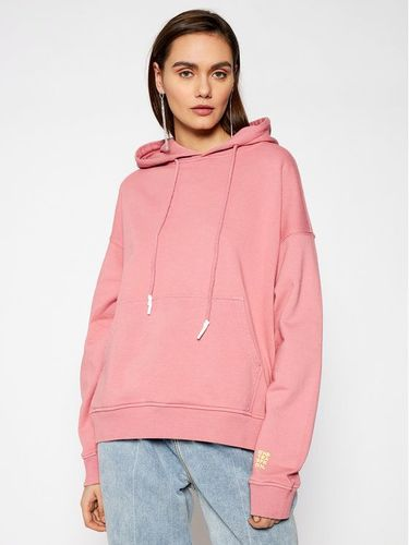 One Teaspoon Bluza Smiley Face Batwing Hoody 23944 Różowy Regular Fit