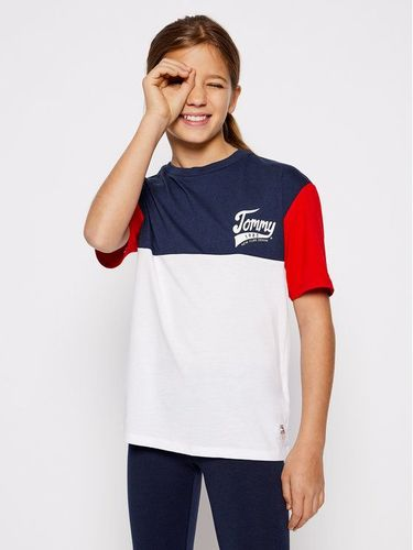 Tommy Hilfiger T-Shirt 1985 Colourblock Tee KG0KG04959 D Kolorowy Regular Fit