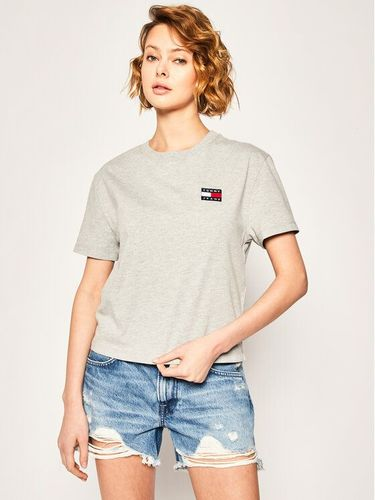 Tommy Jeans T-Shirt Badge Tee DW0DW06813 Szary Regular Fit